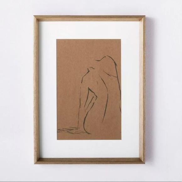 THRESHOLD Studio McGee Wooden Figural Sketch